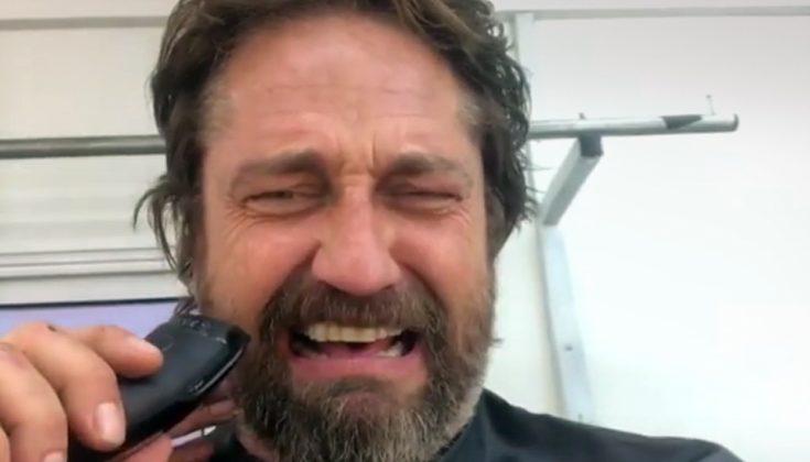 Ο Τζέραρντ Μπάτλερ ξυρίζει το μούσι του και «καταρρέει»