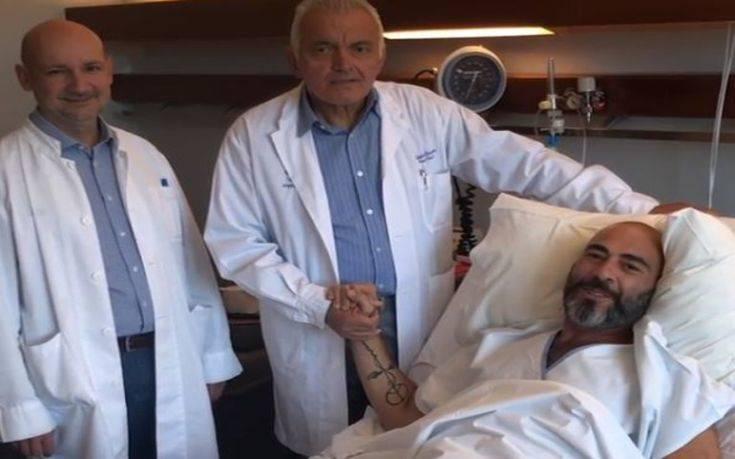 Ο Βαλάντης στο νοσοκομείο μετά την αφαίρεση του όγκου στο νεφρό