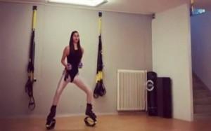 Η σέξι γυμναστική της Ηλιάνας Παπαγεωργίου τρέλανε τους θαυμαστές της