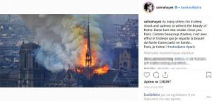 Η συγκινητική ανάρτηση της Σάλμα Χάγιεκ για την Παναγία των Παρισίων