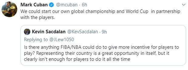"""Μαρκ Κούμπαν: """"Να διοργανώσουμε το δικό μας Παγκόσμιο Κύπελλο"""""""