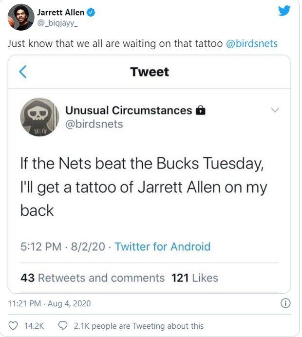 Παίκτες των Νετς θα γίνουν... τατουάζ λόγω της νίκης επί των Μπακς