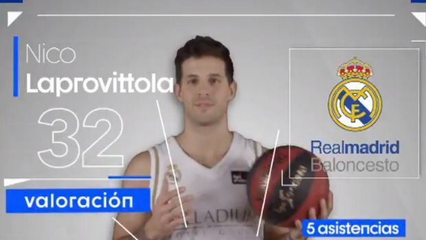 Liga Endesa: Λαπροβίτολα ο MVP της τρίτης αγωνιστικής
